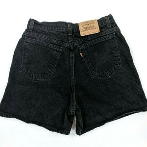 Vintage 90s Levi's Black High Waisted Mom Shorts